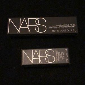 NARS set of velvet matte lip pencil & lip pigment